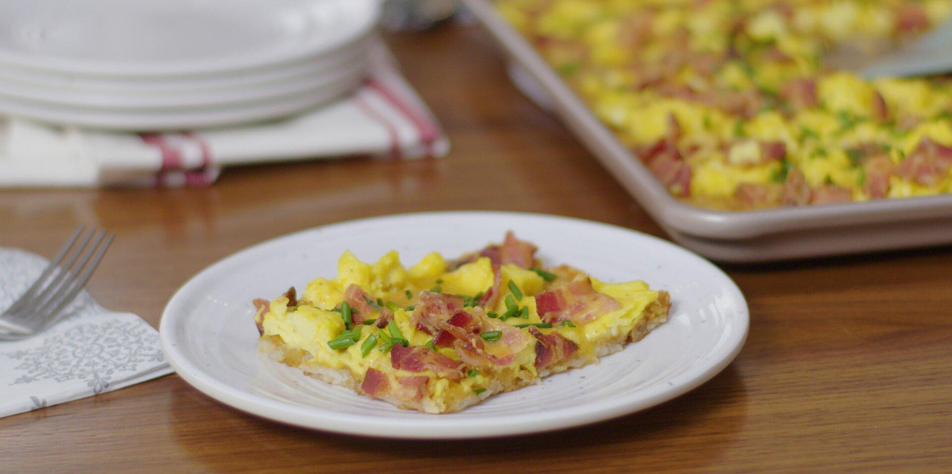 hash brown breakfast pizza recipe
