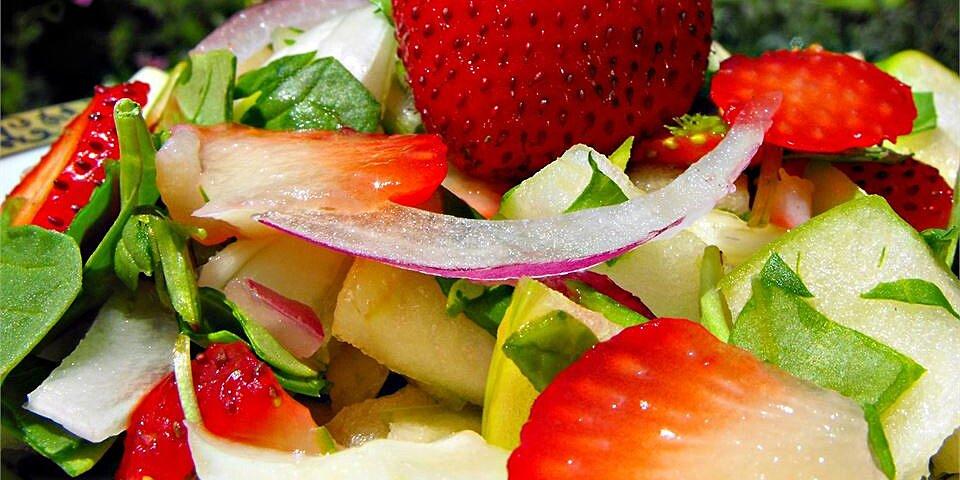 spring strawberry spinach salad recipe