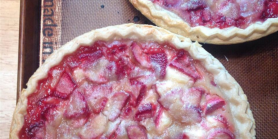 chef neals strawberry rhubarb sour cream pies recipe