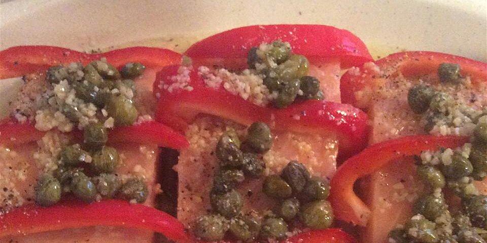 bell pepper and lemon salmon recipe