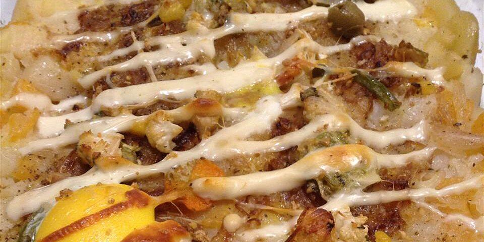 mashed potato rutabaga and parsnip casserole with