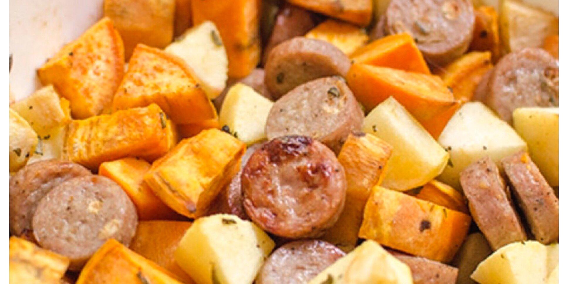 sweet potato and apple sausage casserole recipe