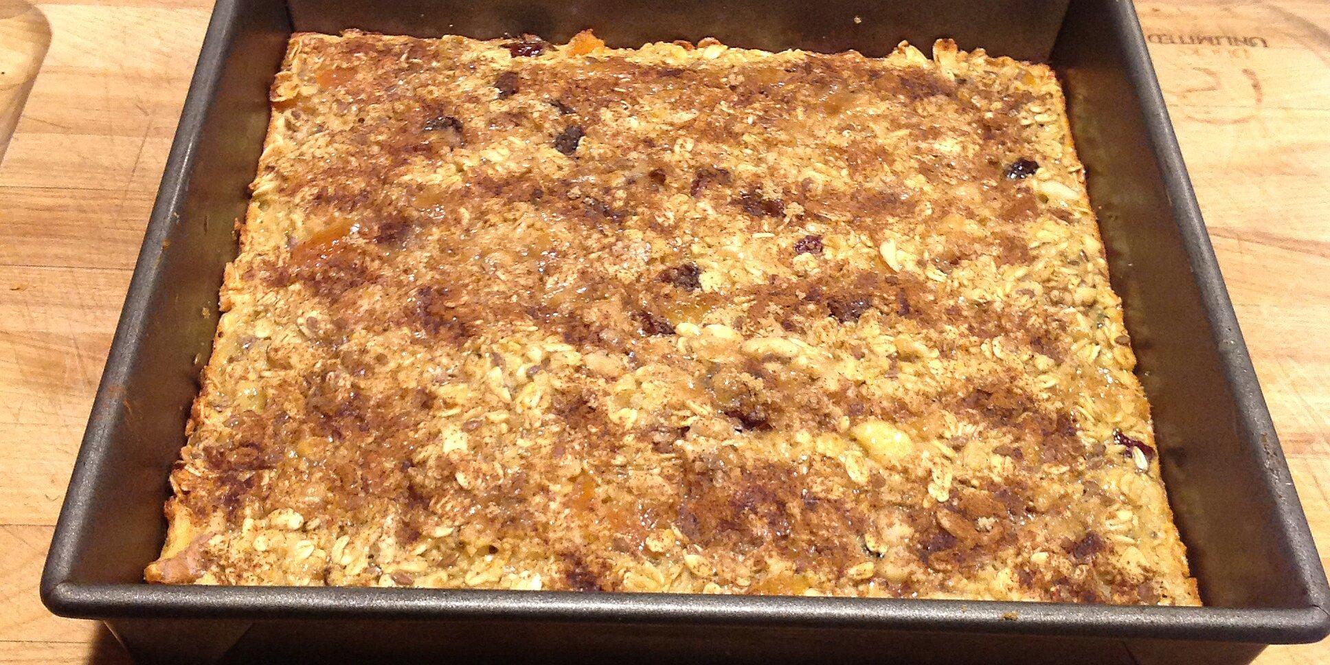 banana bread baked oatmeal bars recipe