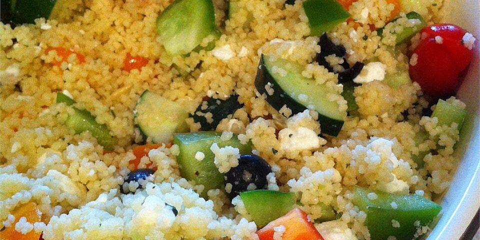 party size greek couscous salad recipe