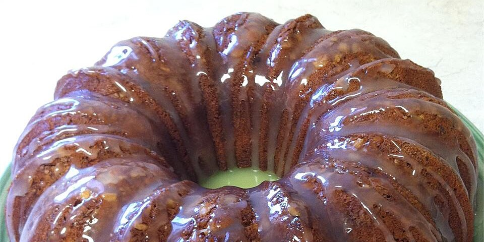 banana pound cake with caramel glaze recipe