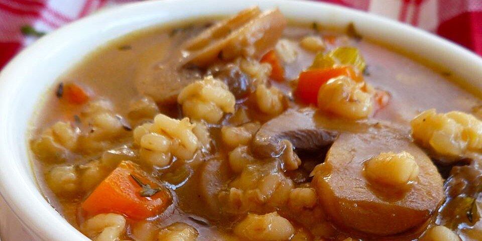 very easy mushroom barley soup recipe