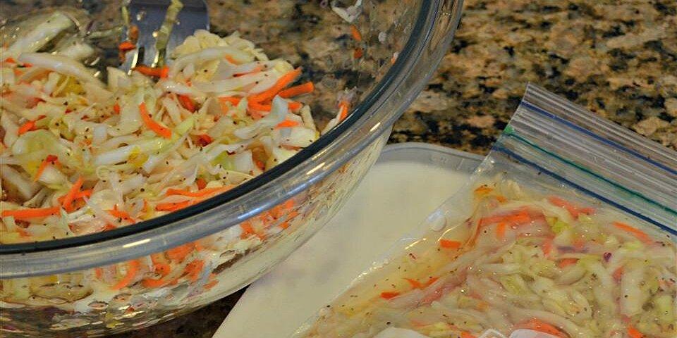 freezer slaw recipe