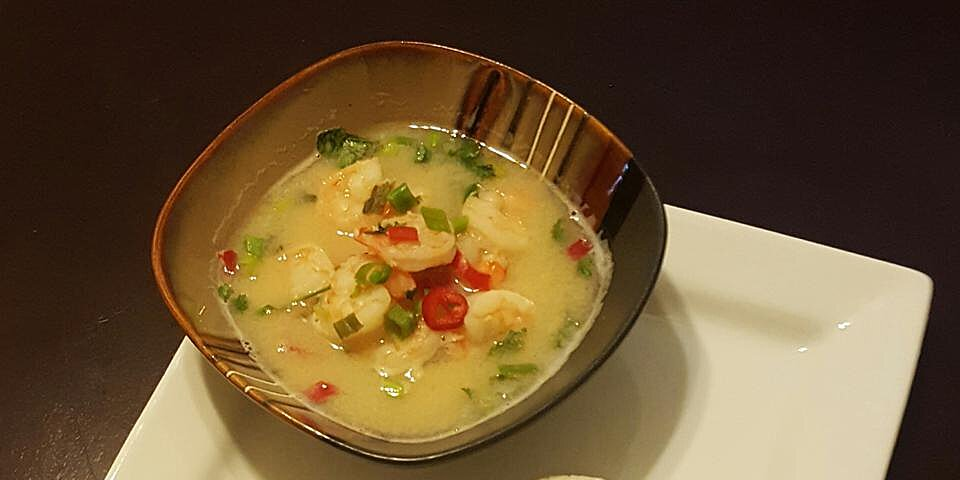 hot and sour prawn soup with lemon grass recipe
