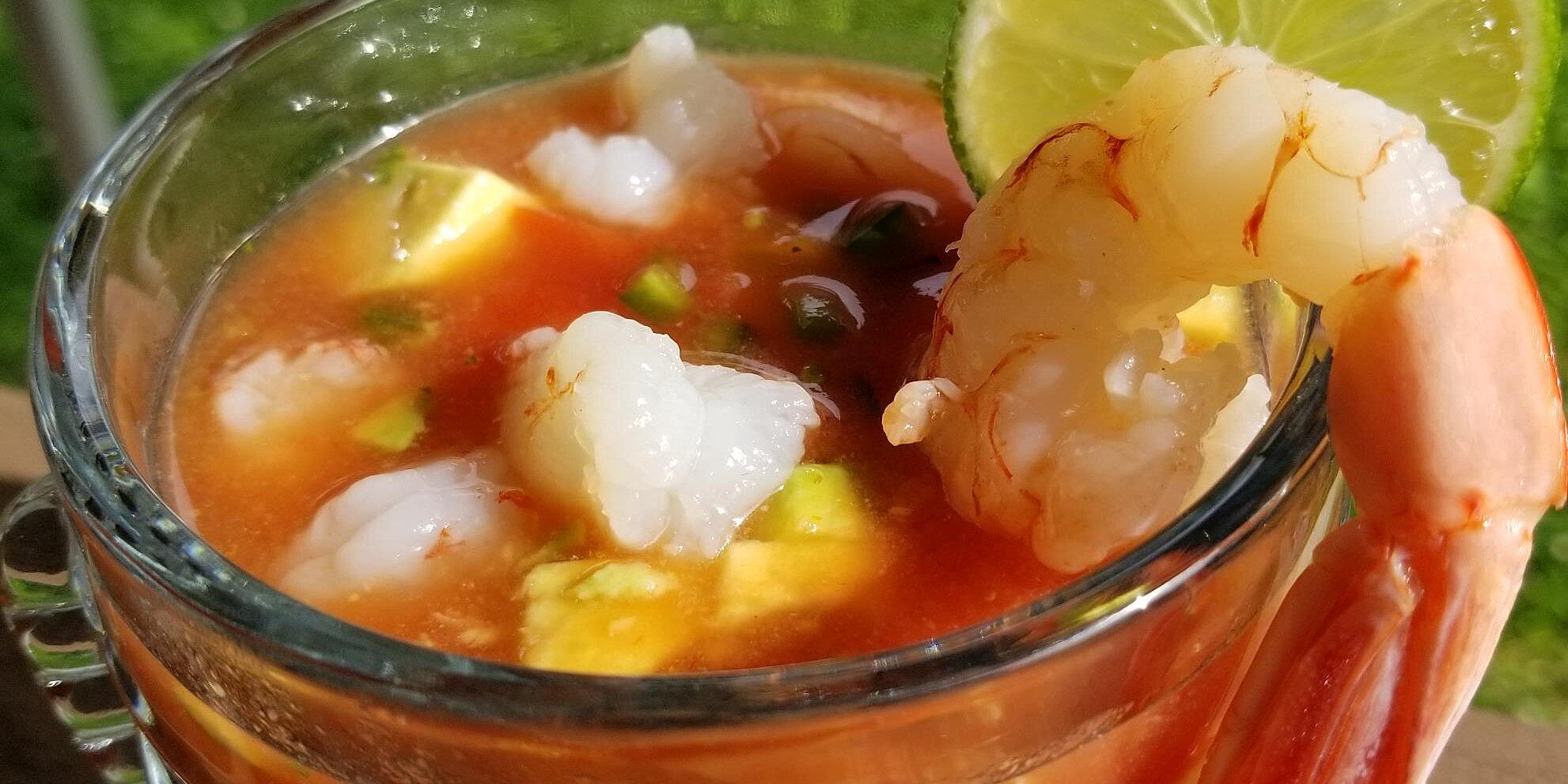 authentic mexican shrimp cocktail coctel de camarones estilo