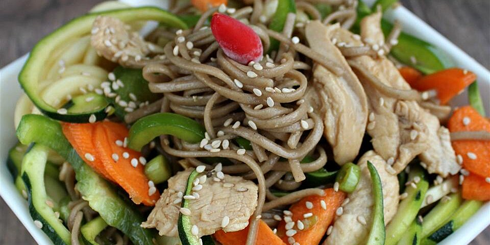 soba noodle salad with chicken and sesame recipe