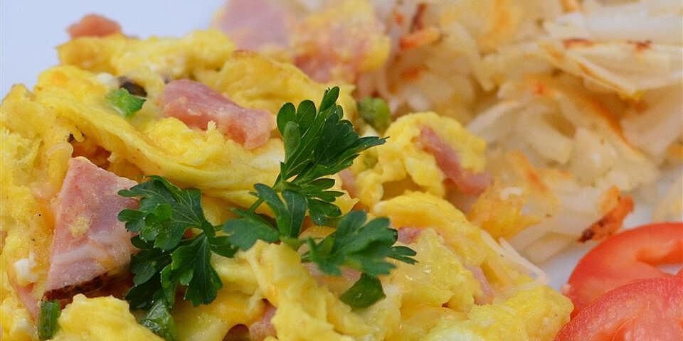 sharons egg and ham scramble recipe