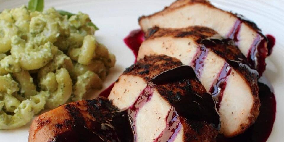 red white and blueberry grilled chicken recipe