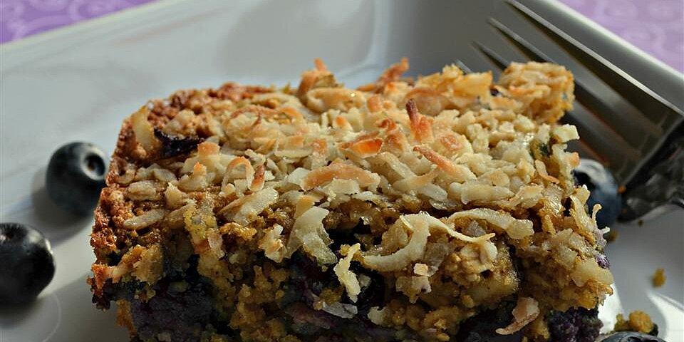 blueberry oatmeal breakfast bars recipe