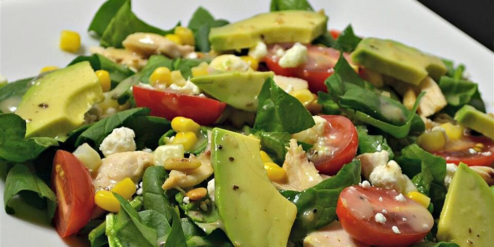 spinach salad with chicken avocado and goat cheese recipe