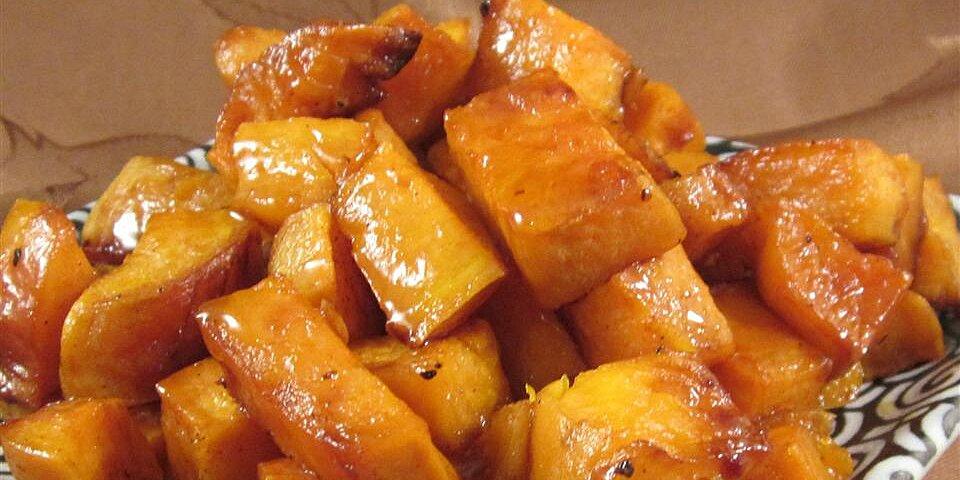 honey roasted sweet potatoes recipe