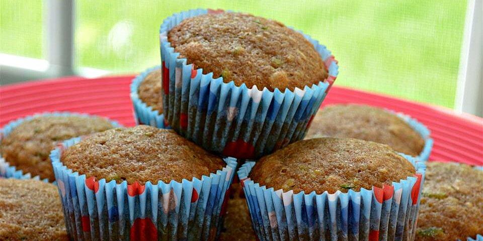 banana zucchini bread muffins recipe