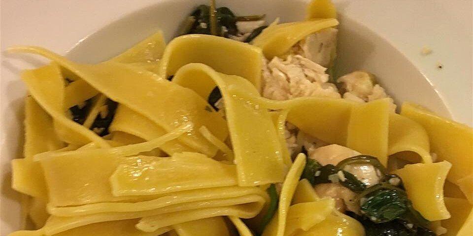 spinach garlic pasta recipe