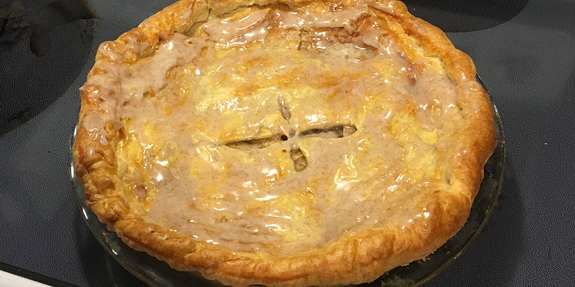 glazed apple cream pie recipe