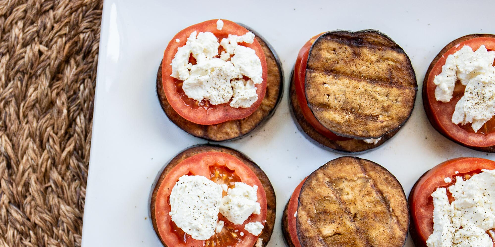 grilled eggplant tomato and goat cheese recipe