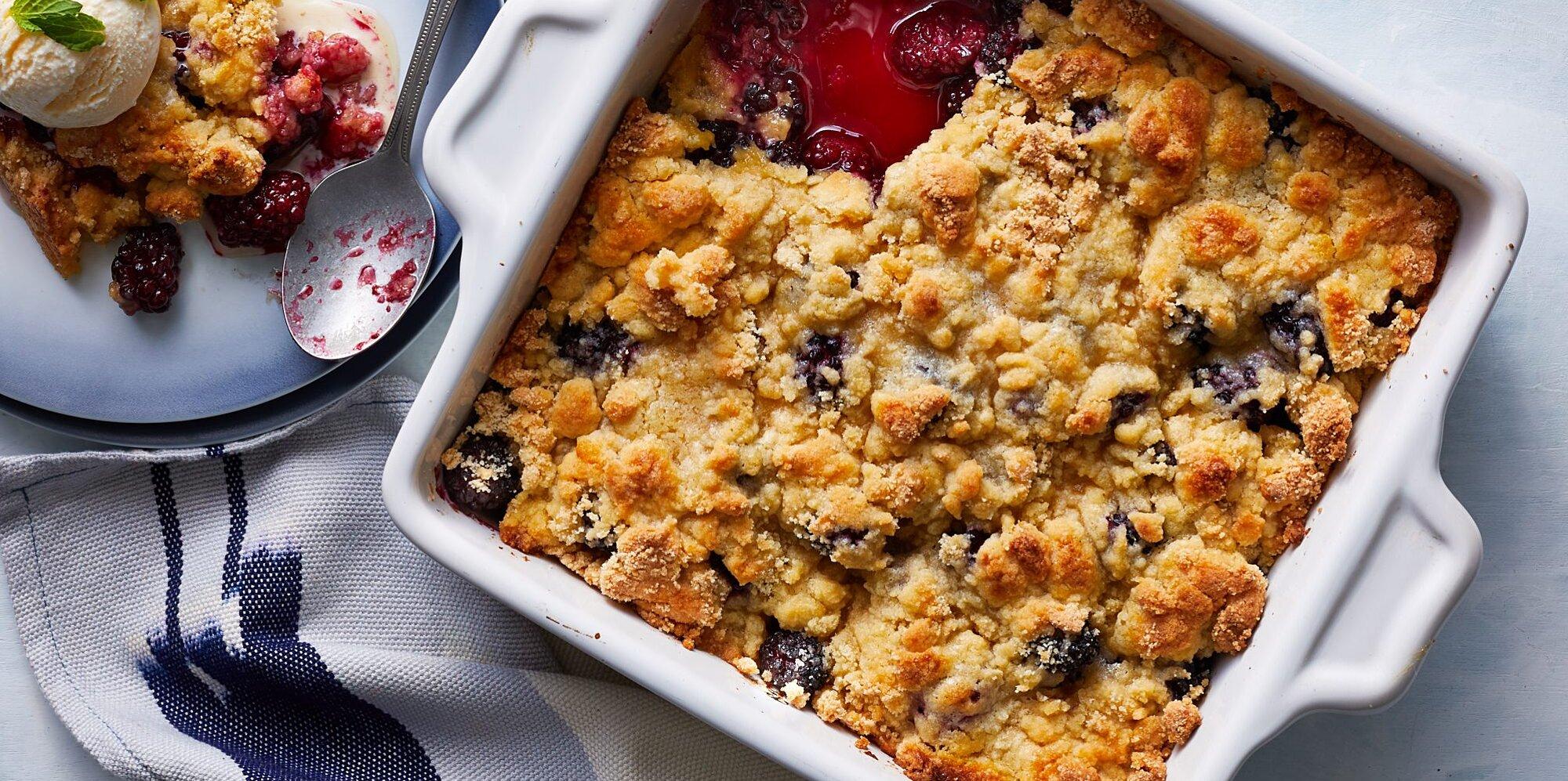 Low Carb Blueberry Cobbler - Gluten Free, Paleo   I Breathe I'm Hungry