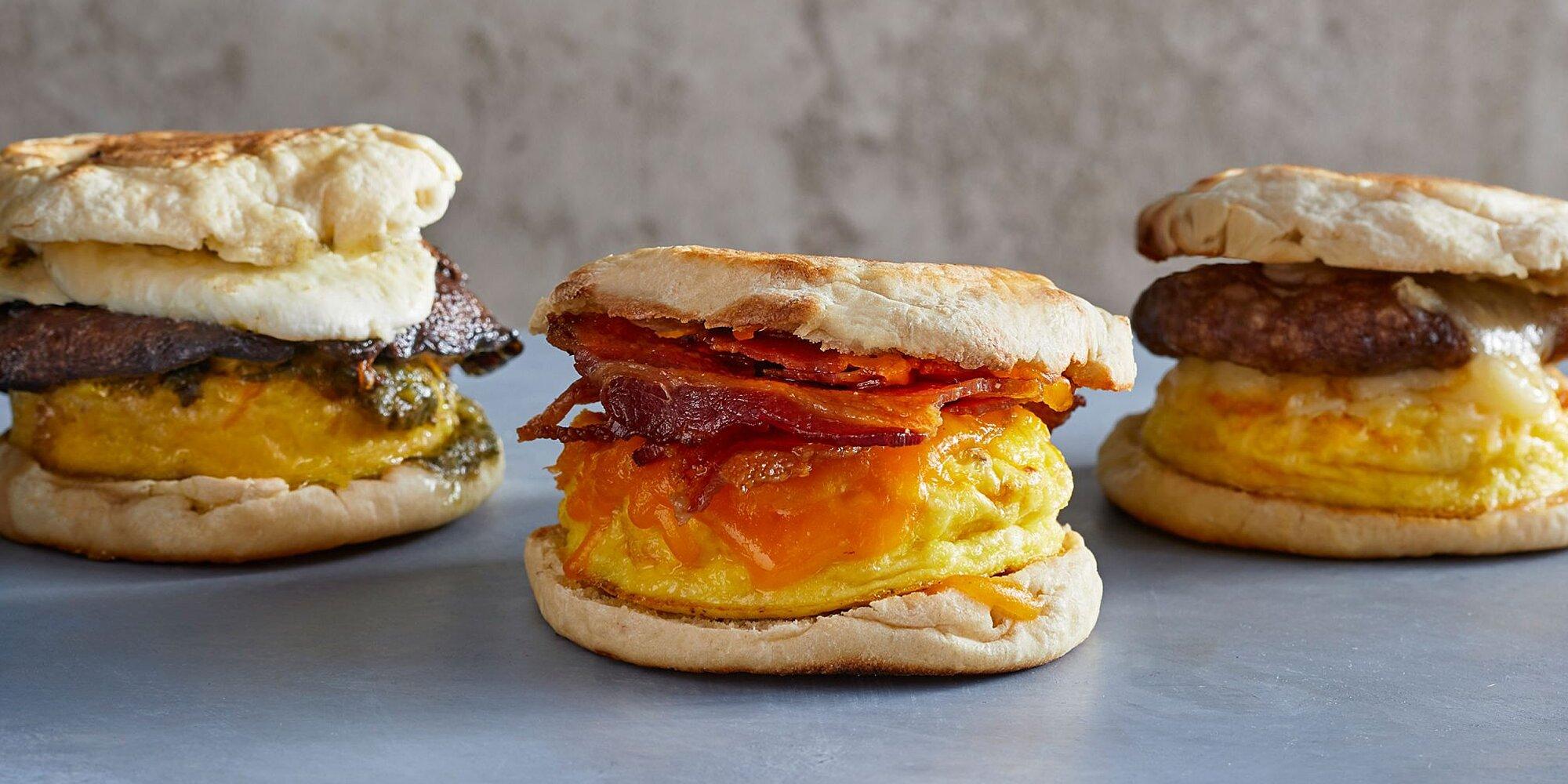 Microwave Breakfast Sandwiches Recipe