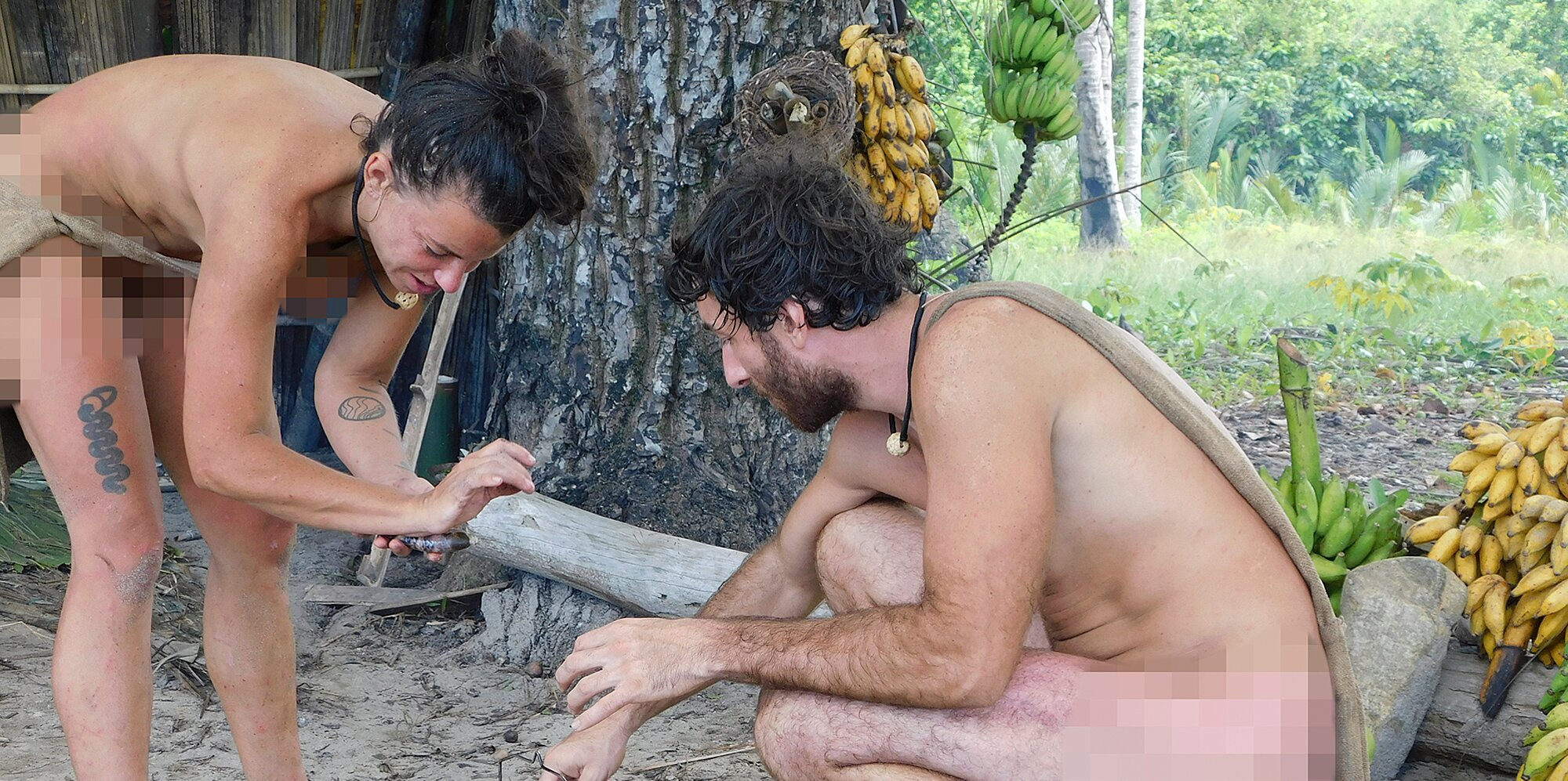 Survival nude naked Naked and