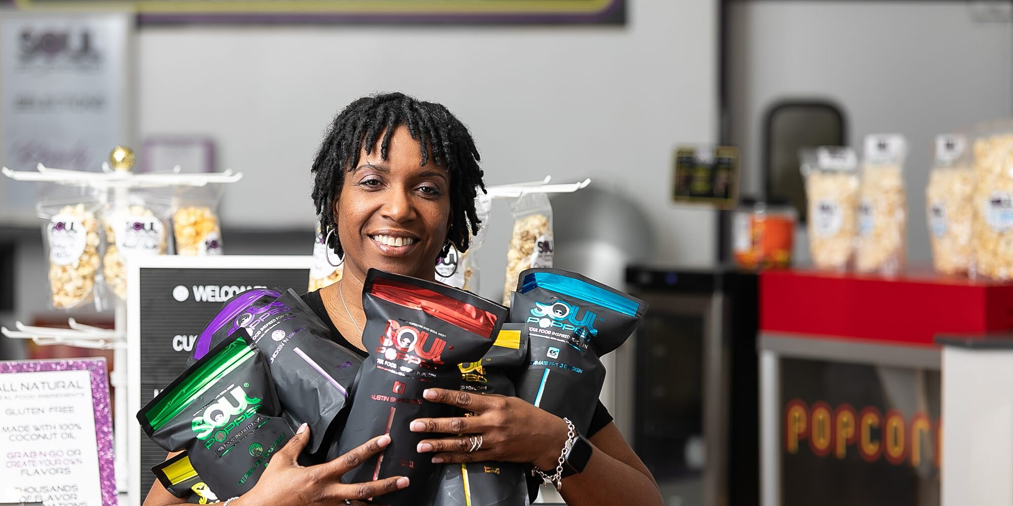 This Texas Entrepreneur is Cooking Up Soul Food-Flavored Popcorn, and Y'all Need to Try It