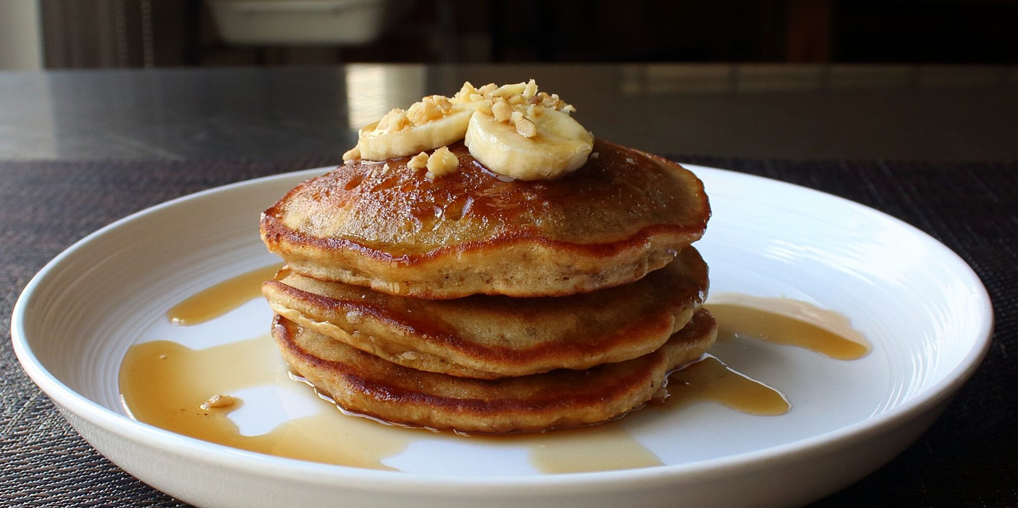 chef johns banana bread pancakes are the very best of both