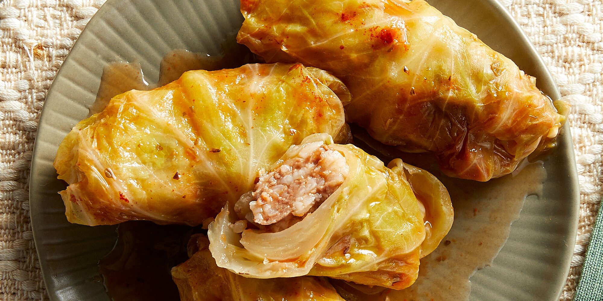 Lebanese Stuffed Cabbage Rolls with Beef