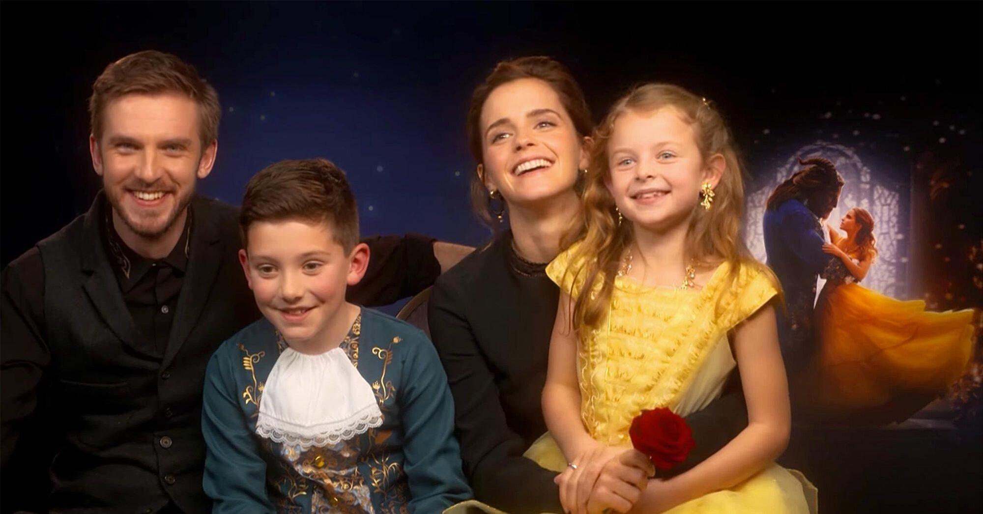 Beauty And The Beast Emma Watson Dan Stevens Meet Kids Ew Com