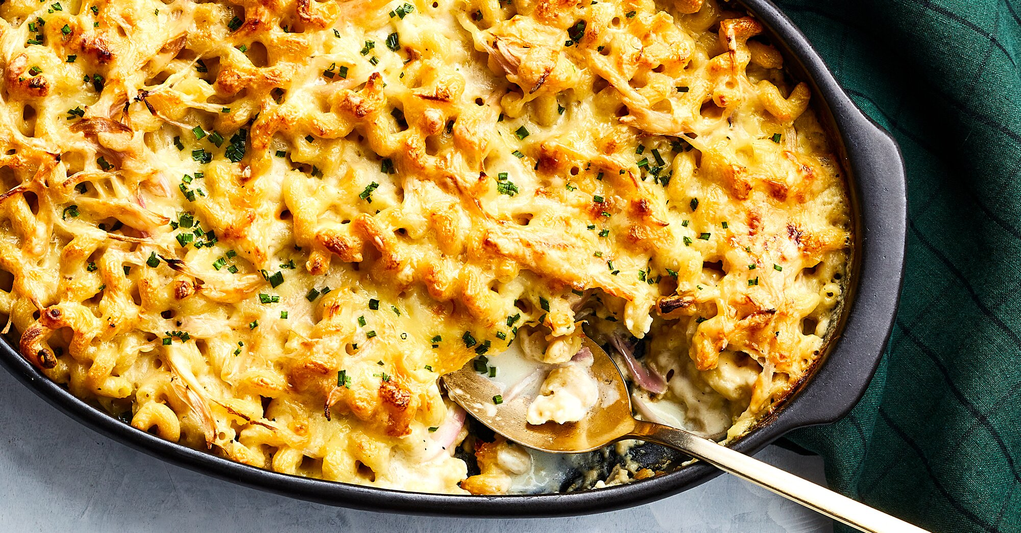 Raclette-Gruyère Mac and Cheese with Pickled Shallots Recipe