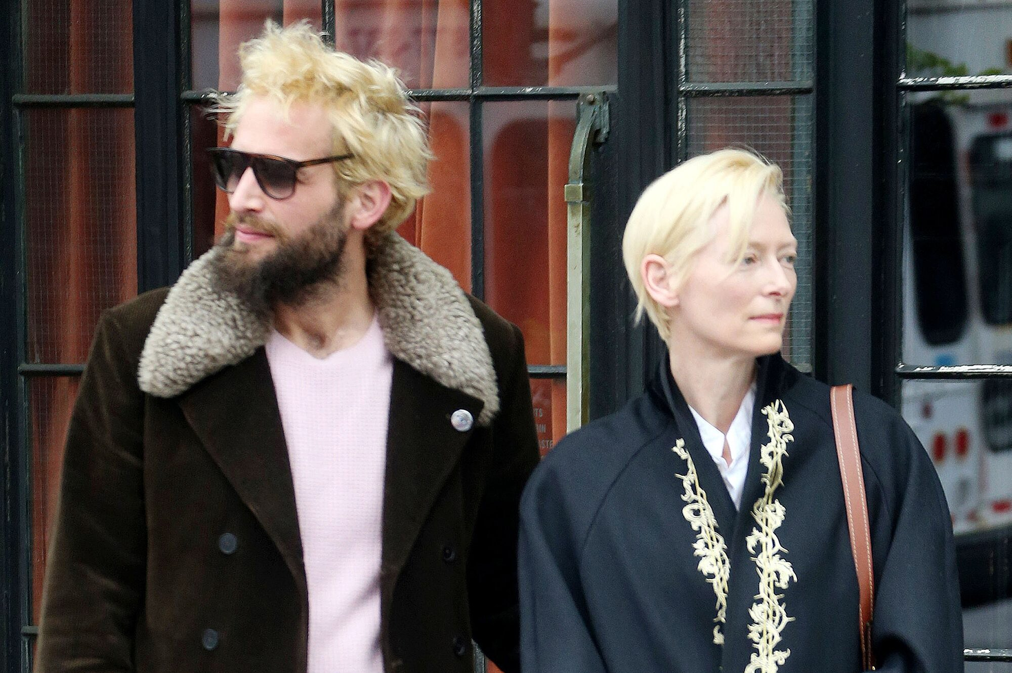 Tilda Swinton Steps Out In New York With Sandro Kopp People Com