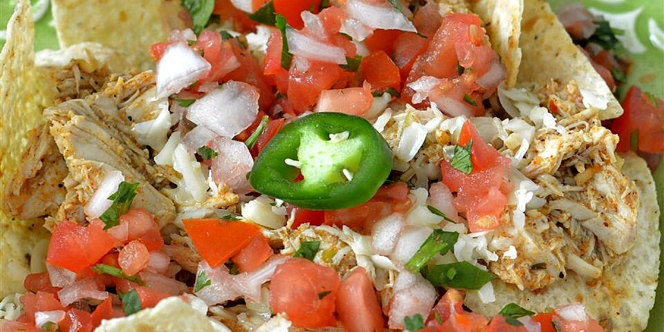 chicken enchilada nachos recipe