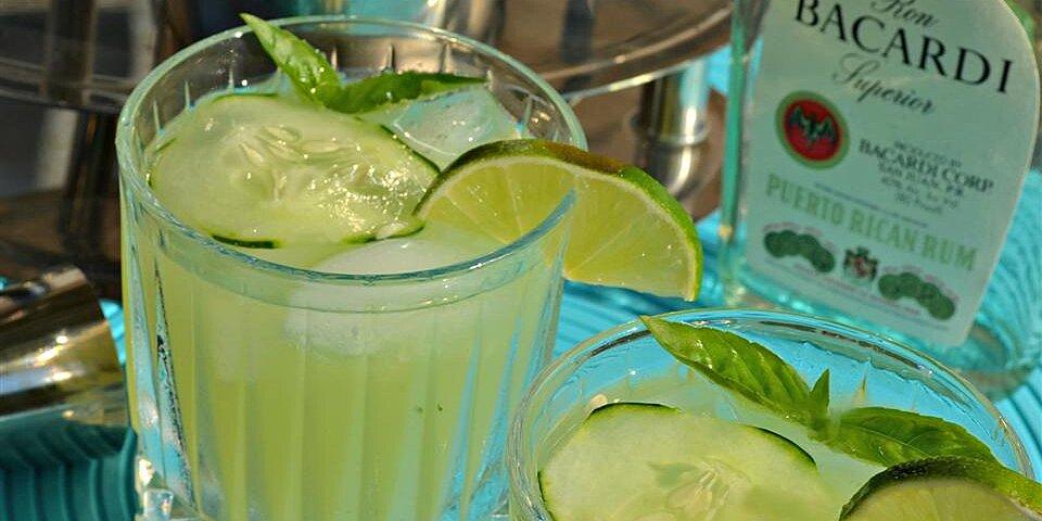 basil cucumber mojito recipe