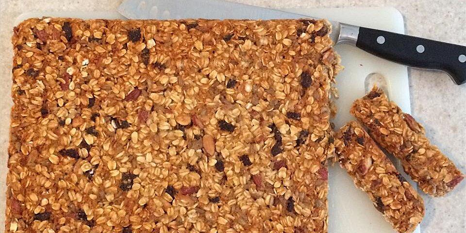 sweet and tart vegan granola bar recipe