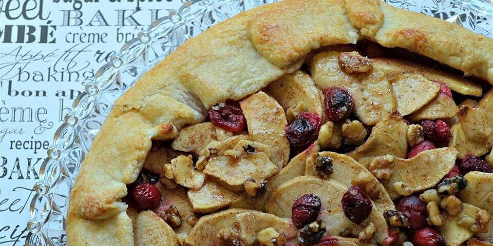 rustic fall fruit tart recipe