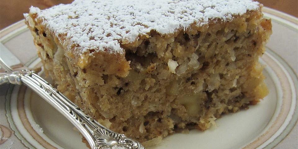 walnut coconut applesauce coffee cake recipe