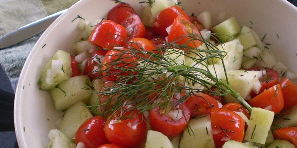 tomato cucumber salad recipe