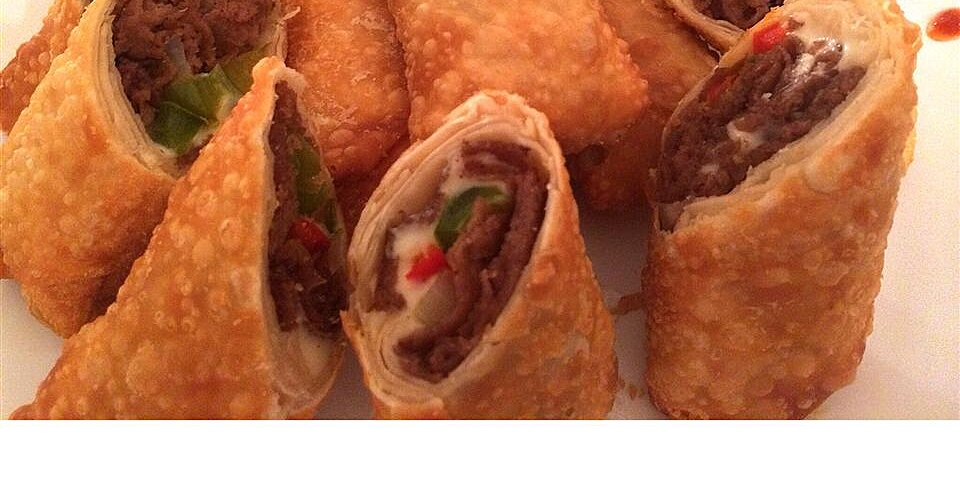 cheesesteak egg rolls recipe