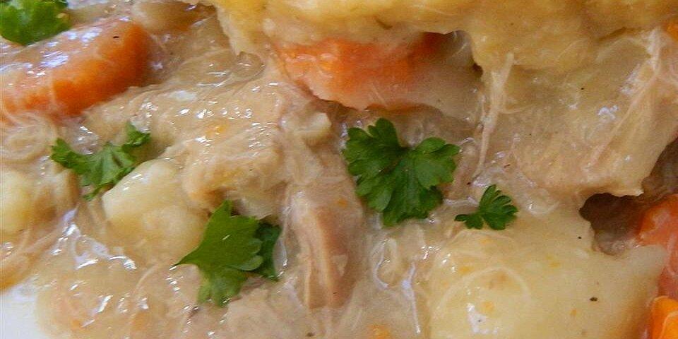 moms chicken and dumplings slow cooker version recipe