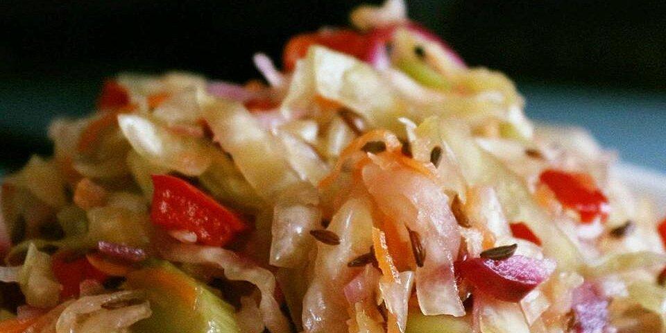 sauerkraut salad with caraway seeds recipe