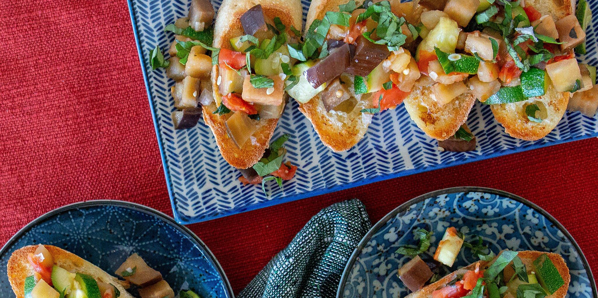 veggie delight on garlic bread recipe