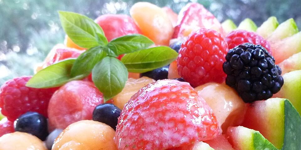 strawberry melon summer salad recipe
