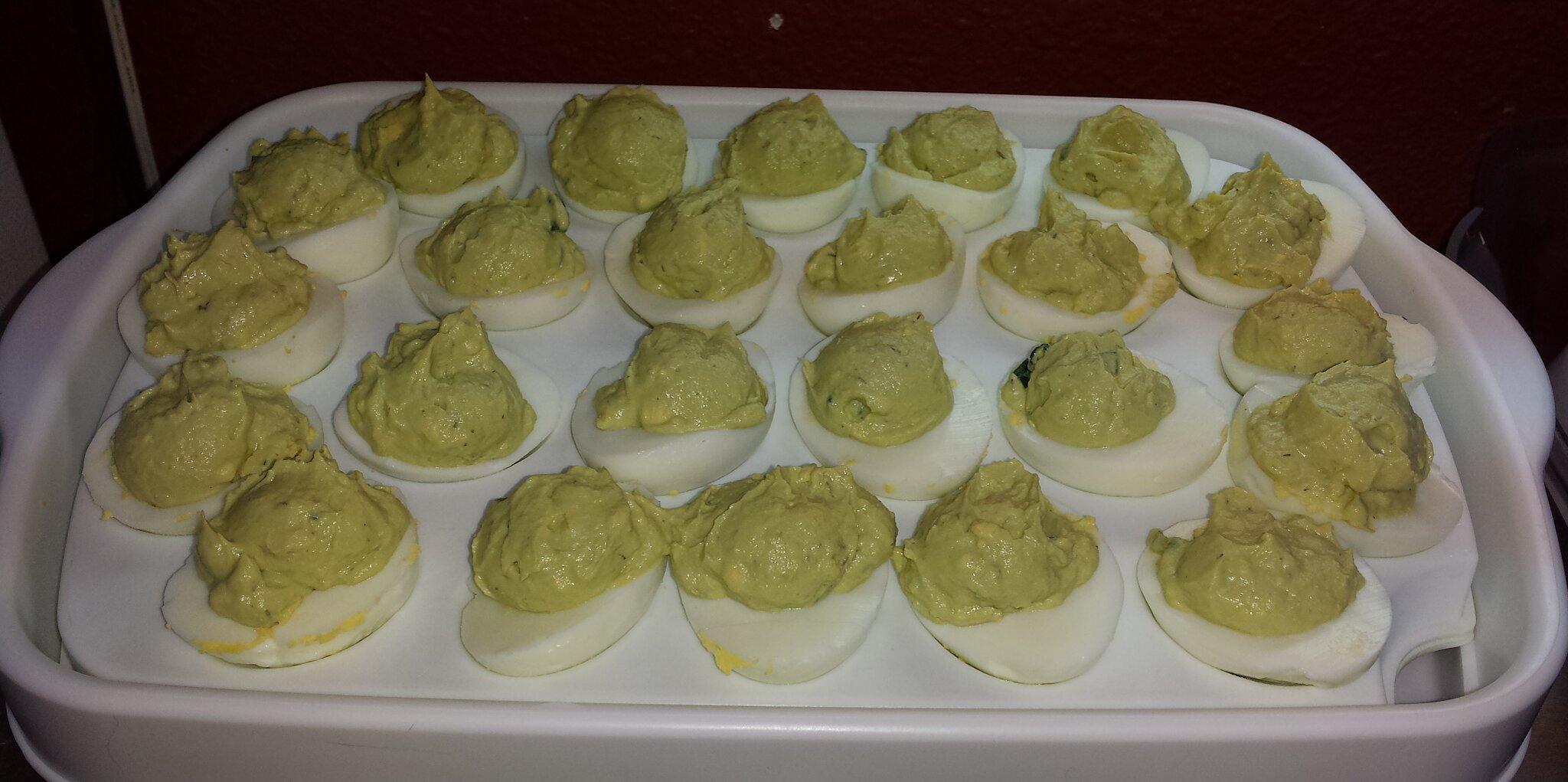 no mayo deviled eggs recipe