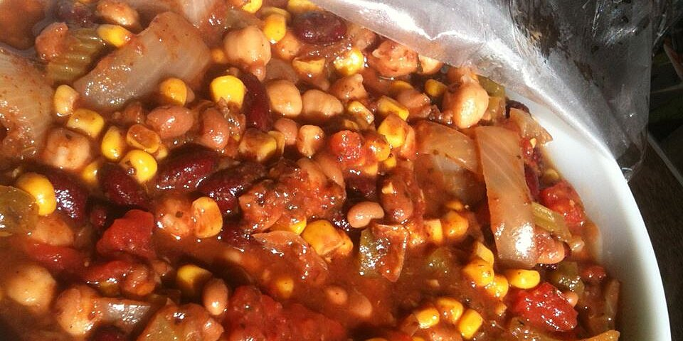 grandmas slow cooker vegetarian chili recipe