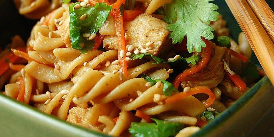 sesame pasta chicken salad recipe