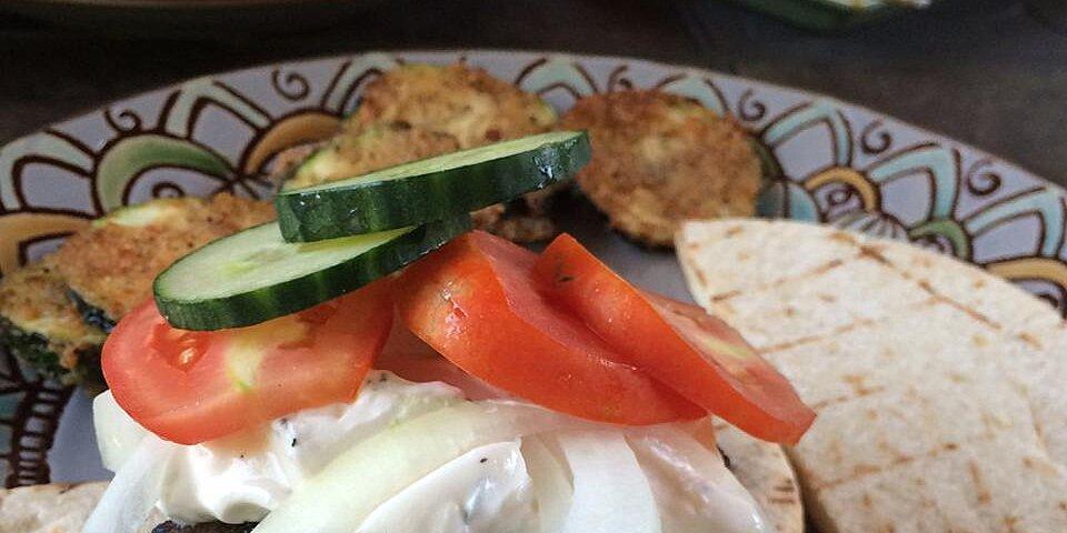 greek lamb feta burgers with cucumber sauce recipe