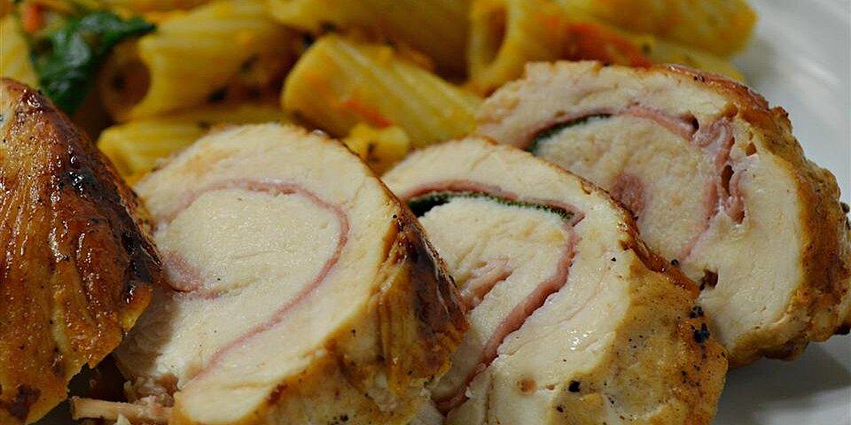 saltimbocca di pollo alla romana prosciutto stuffed chicken