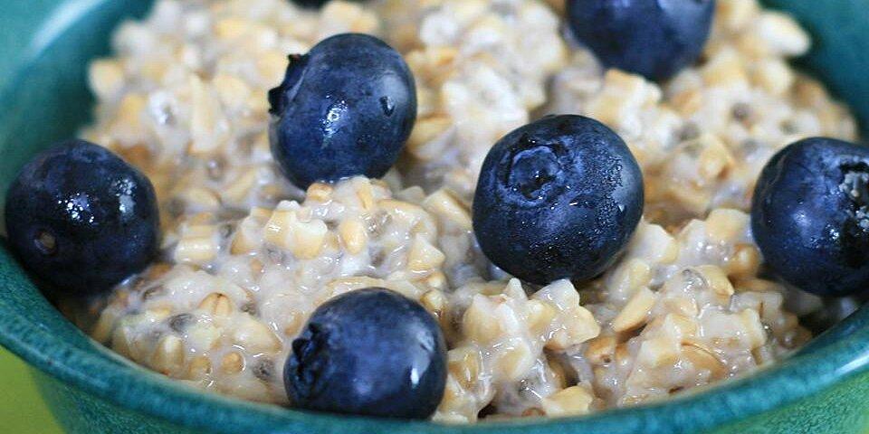 steel cut oats with blueberries and lemon zest recipe