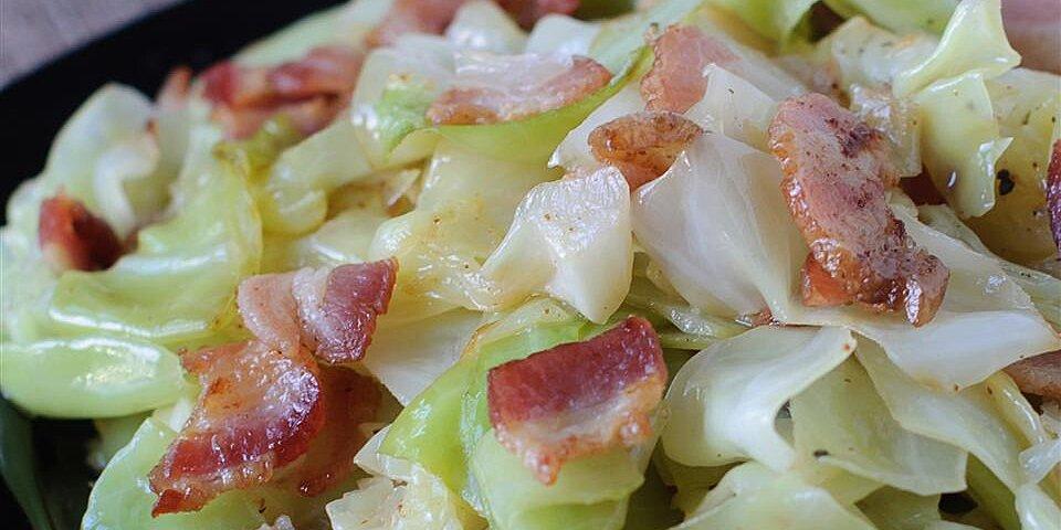 fried irish cabbage with bacon recipe